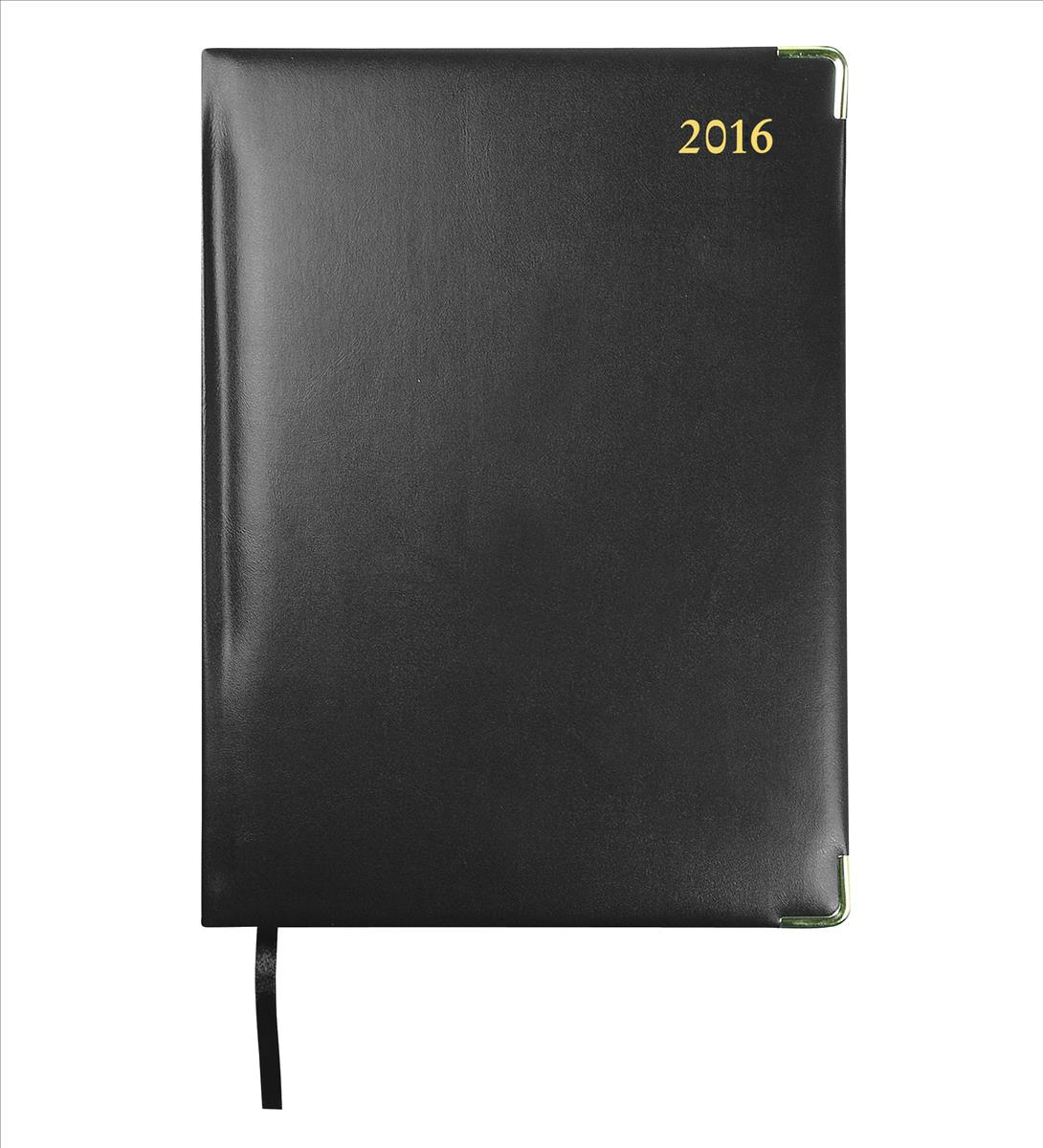 Collins 2016 Classic Compact Day Per Page Appointment Diary Black 1250V