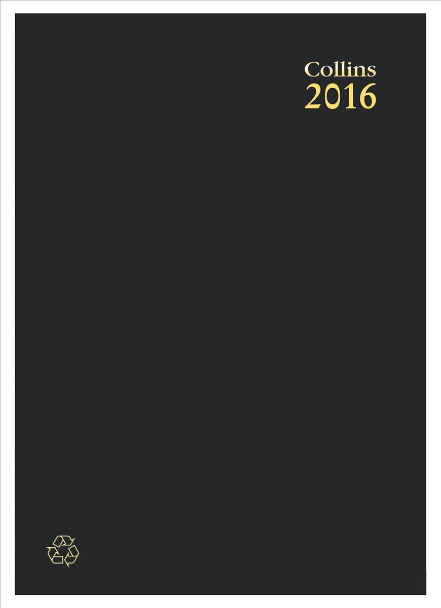 Collins Eco Diary A4 WTV 2016 Blk EC40
