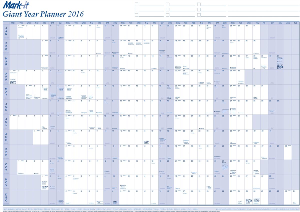 MapMarketing 2016 Giant Year Planner 16YP