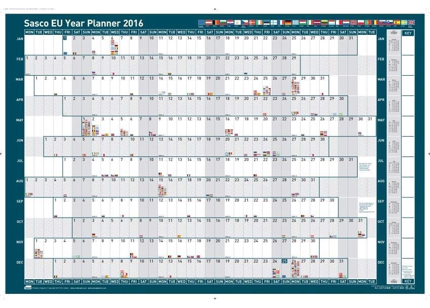 Sasco 2016 Eu Planner Mtd