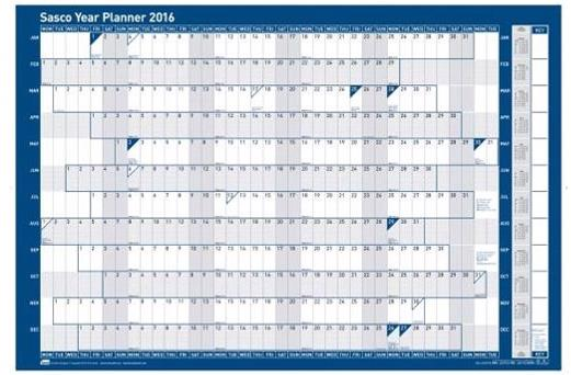Sasco 2016 Year Planner Unmtd
