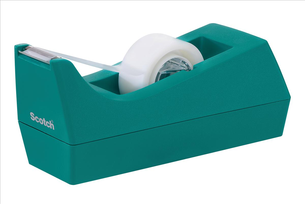 Scotch Magic Tape Turquoise Dispenser with 1 roll of Magic Tape