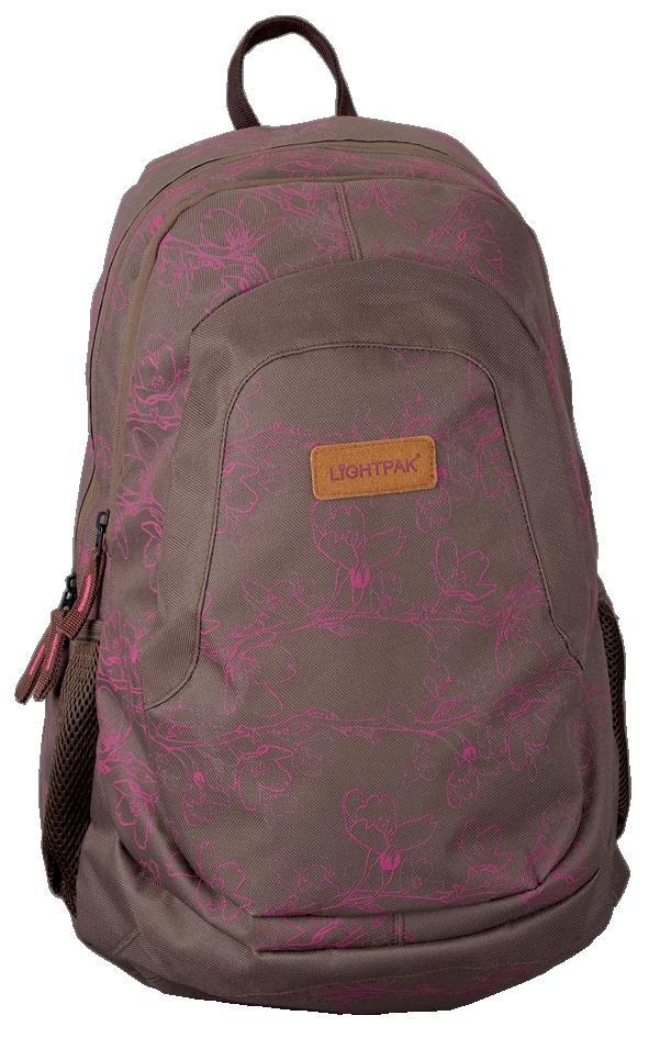 LightPak LotusYou Backpack Gry/Pk 46125