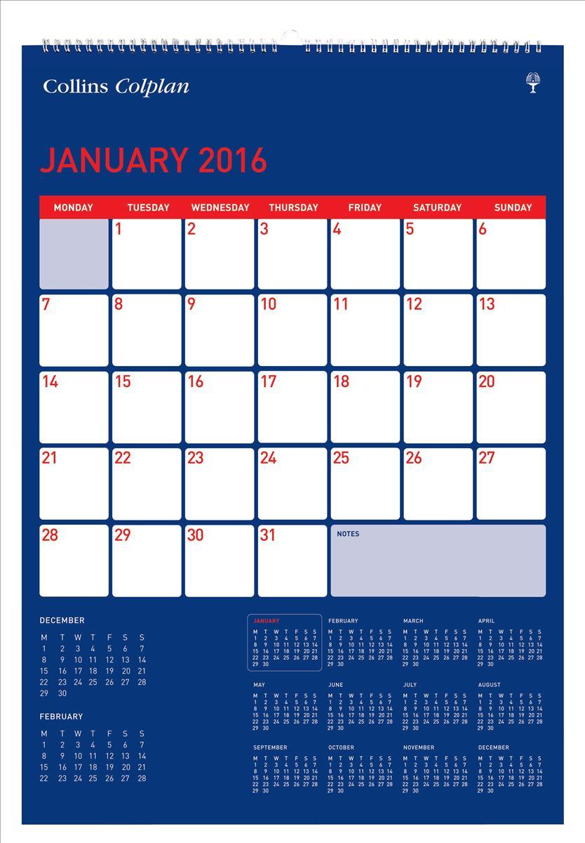 Collins Colplan 2016 Full View Calendar