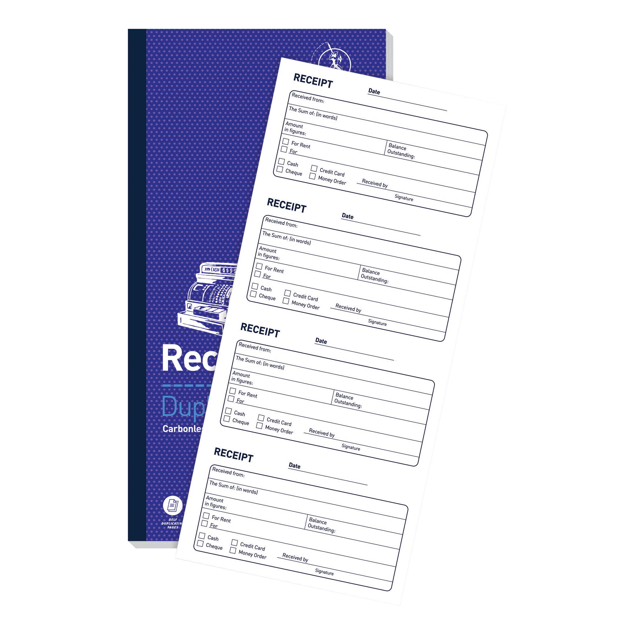 Challenge Duplicate Book Carbonless Receipt 200 Receipts 240x141mm Ref 400048651