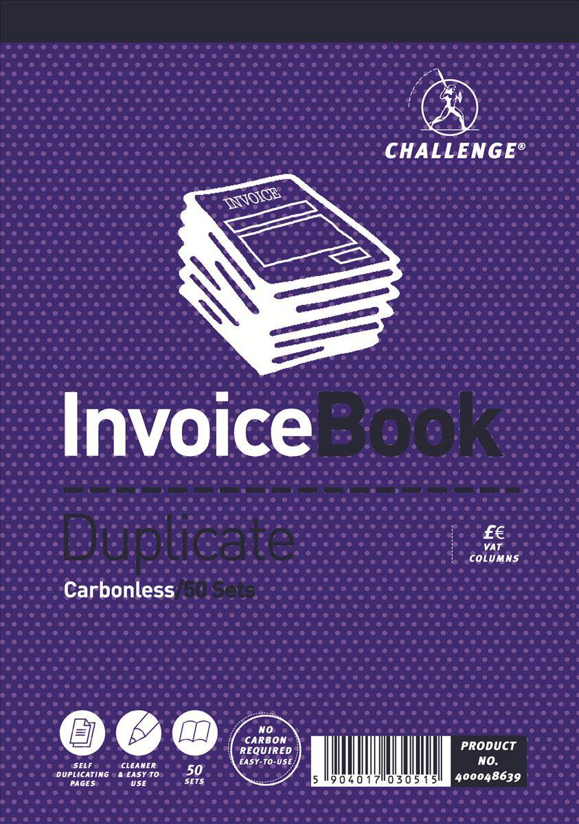 Image for Challenge 195x137mm Invoice with VAT