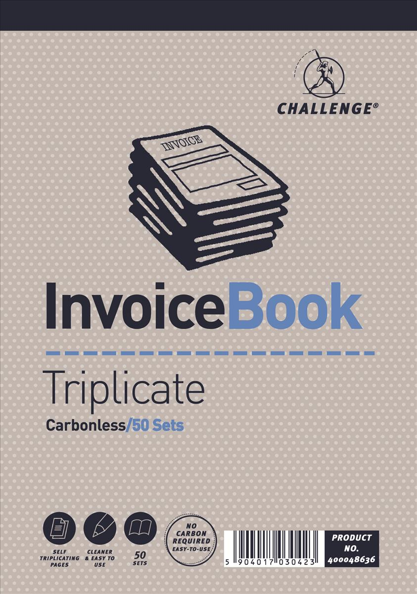 Image for Challenge 195x137mm Invoice without VAT