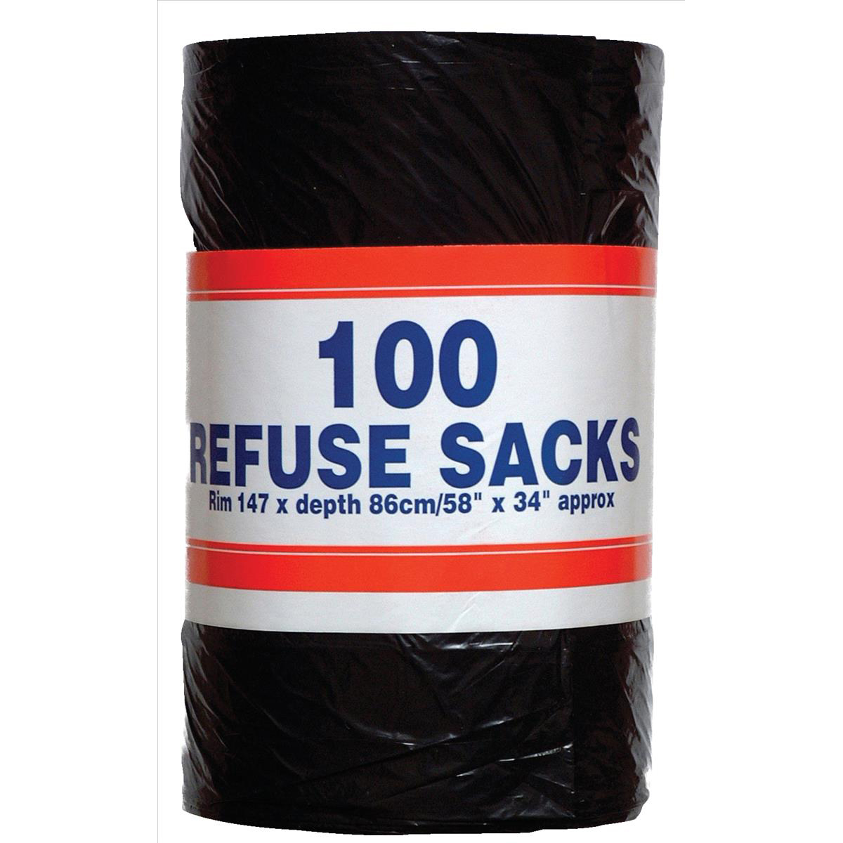 Robinson Young Big Value Refuse Sacks 737x864mm Ref RY00365 [Roll 100]