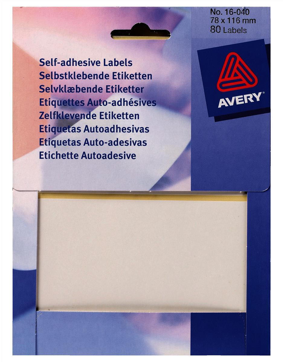 Avery Rectangle Label Wlt 6x50Wht 16-009