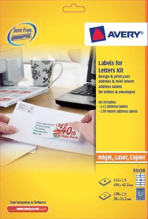 Avery Labels for Letter Kit