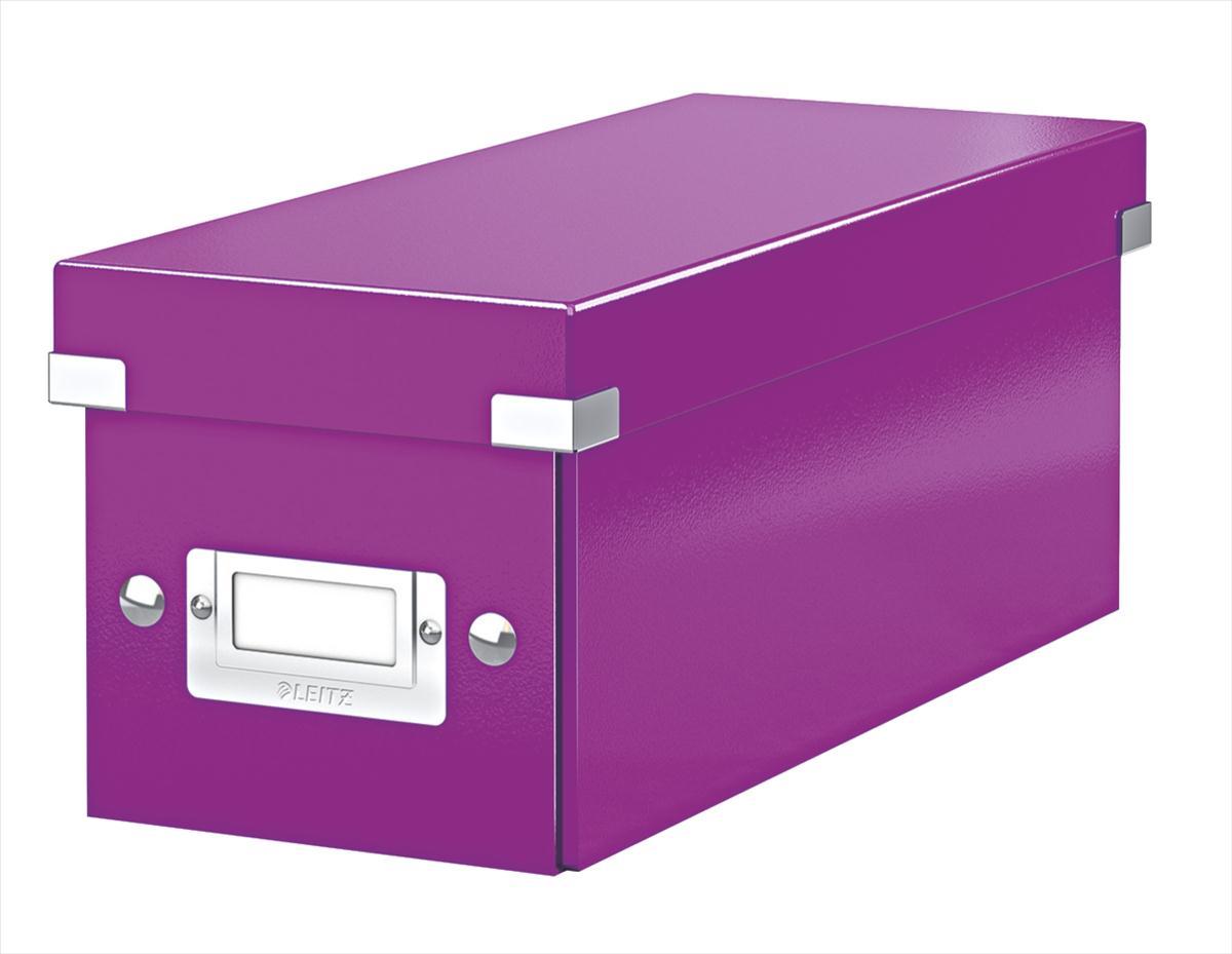 Leitz Click & Store CD/Media Storage Box Purple