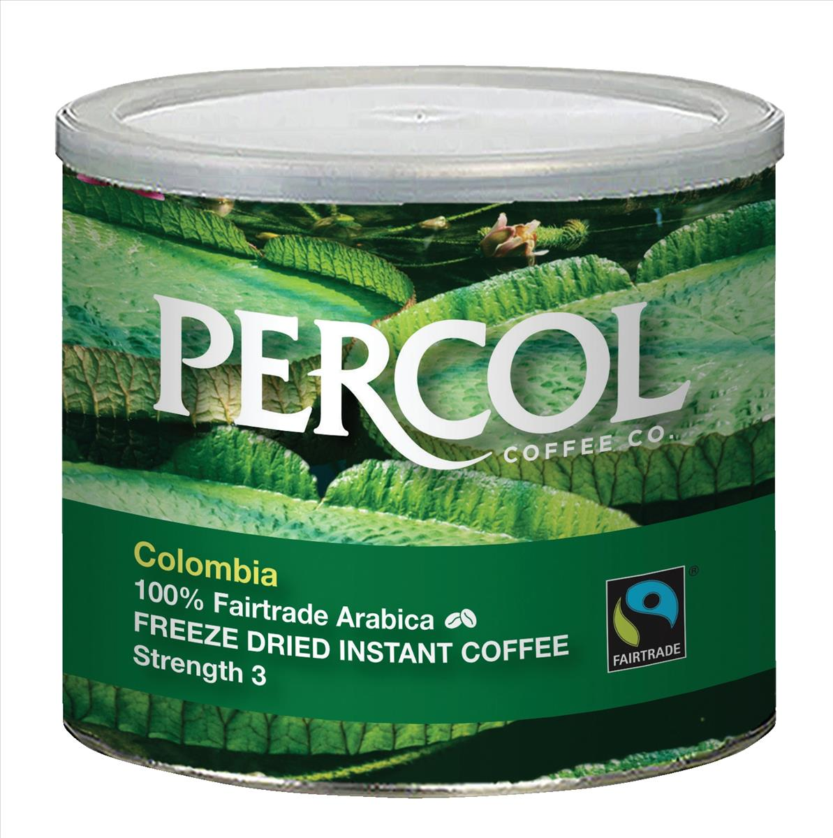 Percol Faitrade Colombian Arabica Instant Coffee 500g Medium Srength