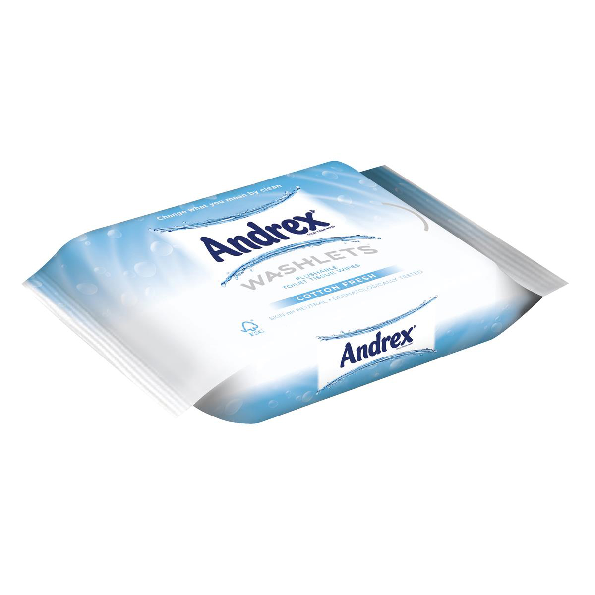 Image for Andrex Toilet Tissue Moist Washlets Flushable 42 Sheets 190x130mm Cotton Fresh Ref 0699204 [Pack 1]