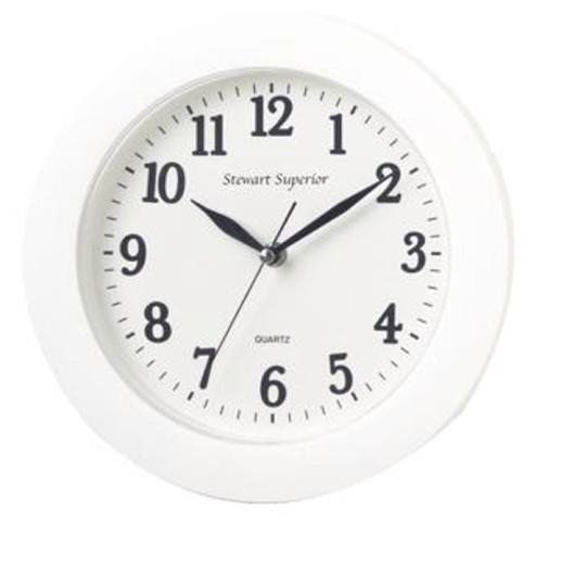 5 Star Fcl Plastic WallClock 250mm White