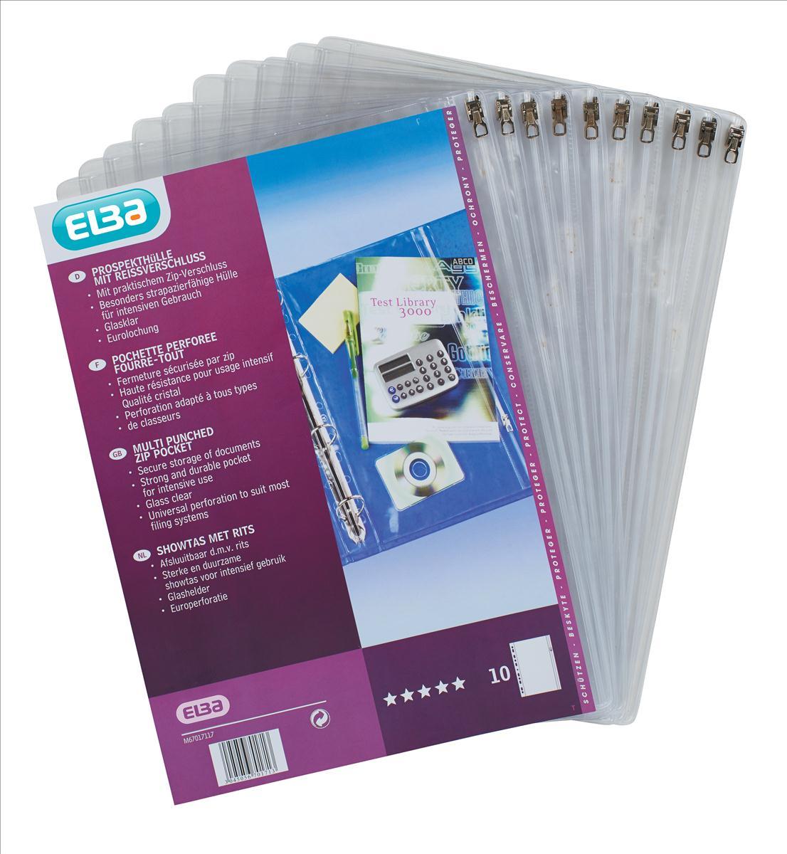 Elba Zip Binder Pocket Pk10 100080817