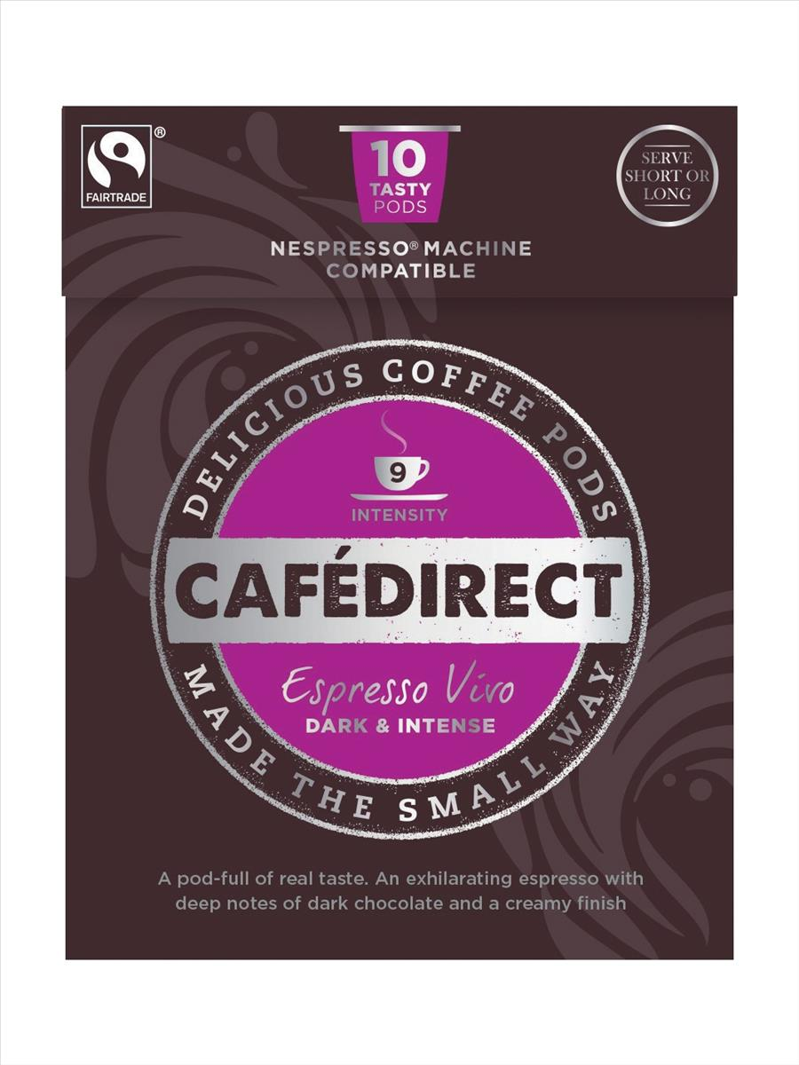 Cafe direct El Reto Espresso Nespresso Machine Compatible Coffee Pod x10