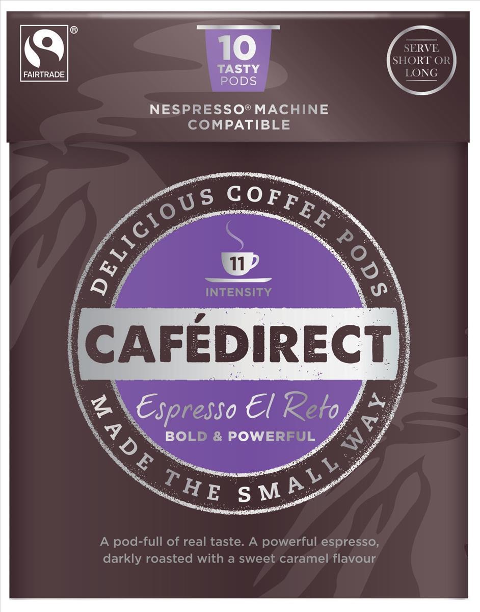 Cafe direct Vivo Espresso Nespresso Machine Compatible Coffee Pod x10