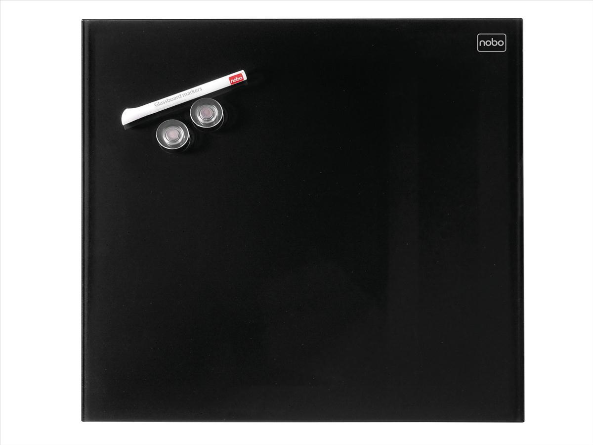 Nobo Diamond Drywipe Board Magnetic 300x300mm Black