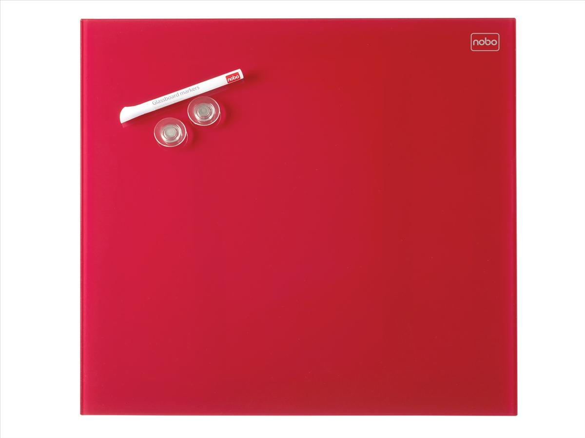 Nobo Diamond Drywipe Board Magnetic 300x300mm Red