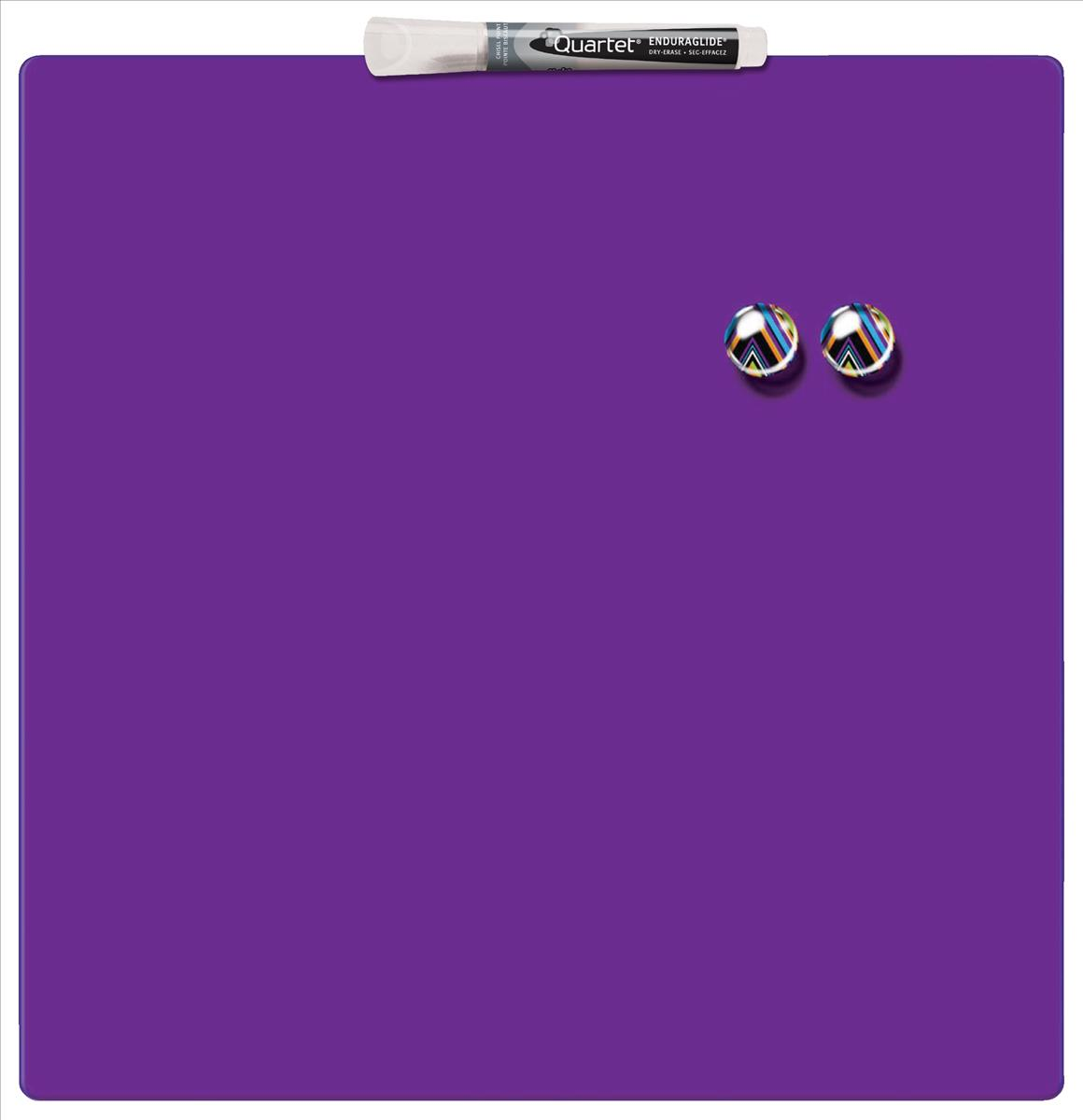 Quartet Magnetic Drywipe Board Square Tile 360x360mm Purple