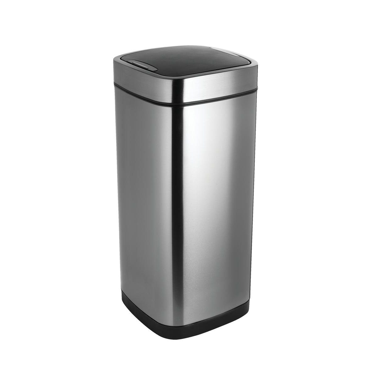 Addis 40 Litre Deluxe Stainless Steel Sqaure Press Top Bin (Pack of 1) 513914