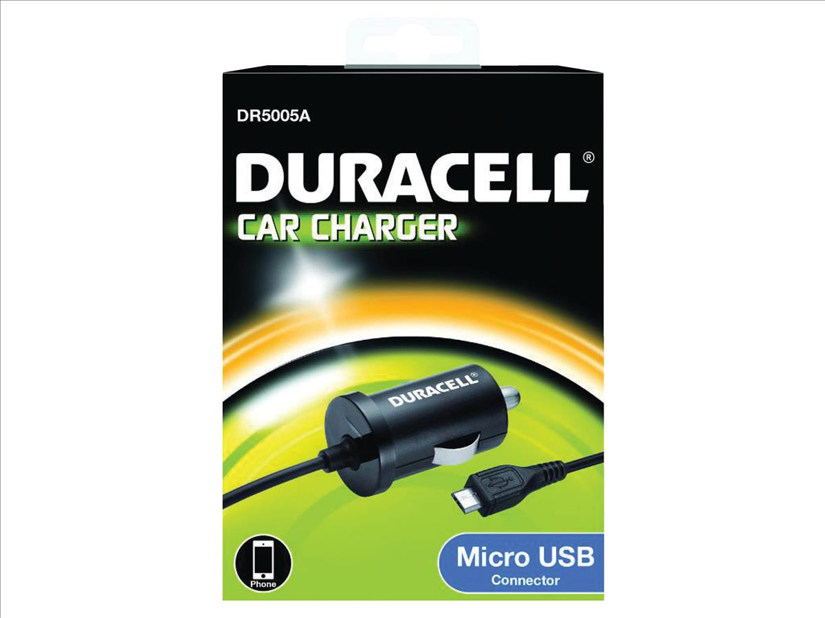 Image for Duracell Micro USB 1A Car Charger