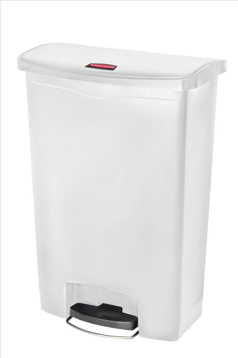 Rubbermaid Slim Step Bin 87 Litre White