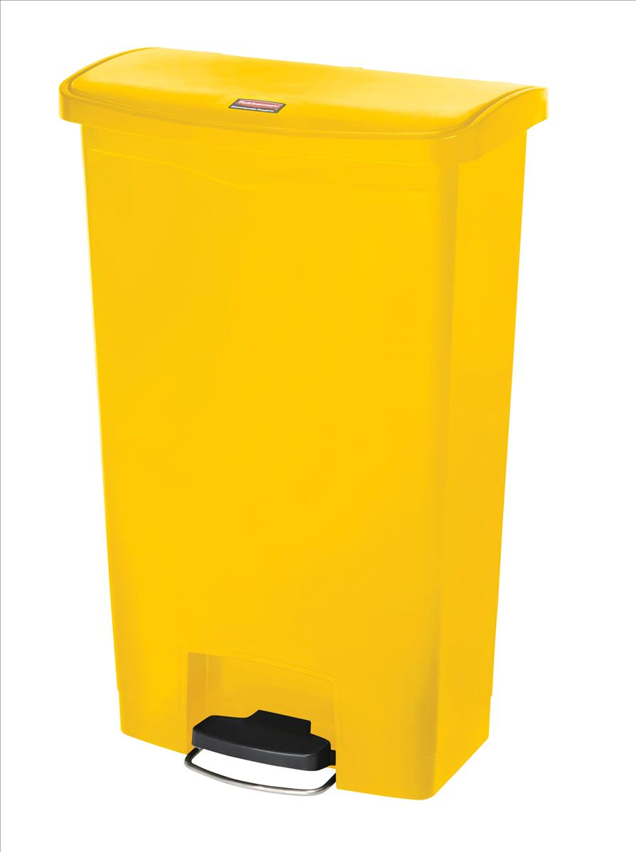 Rubbermaid Slim Step Bin 68 Litre Yellow
