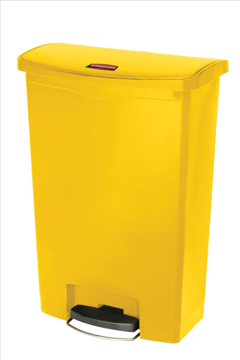 Rubbermaid Slim Step Bin 87 Litre Yellow