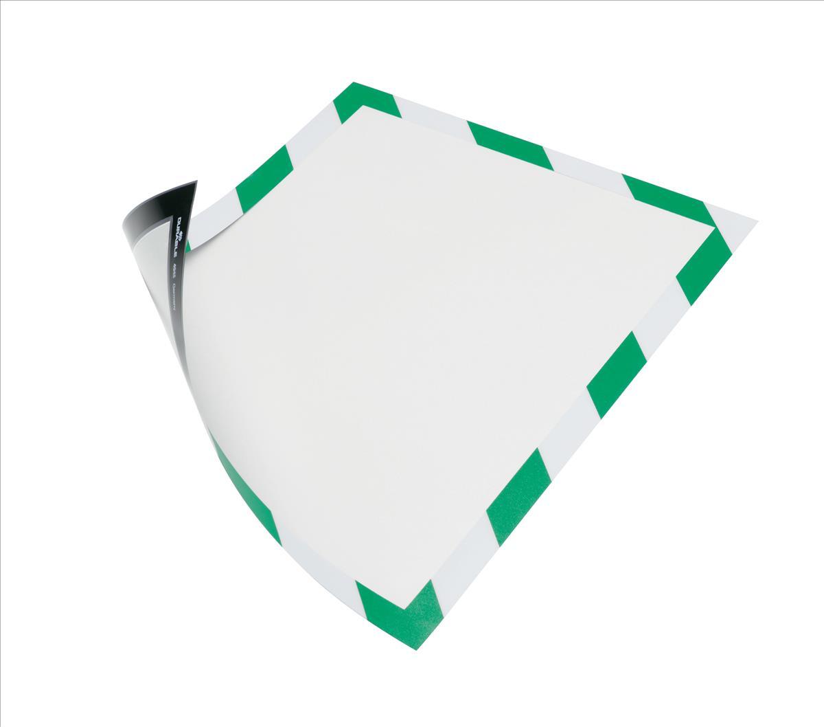 Duraframe Magnetic Sec A4 green/whte pk5
