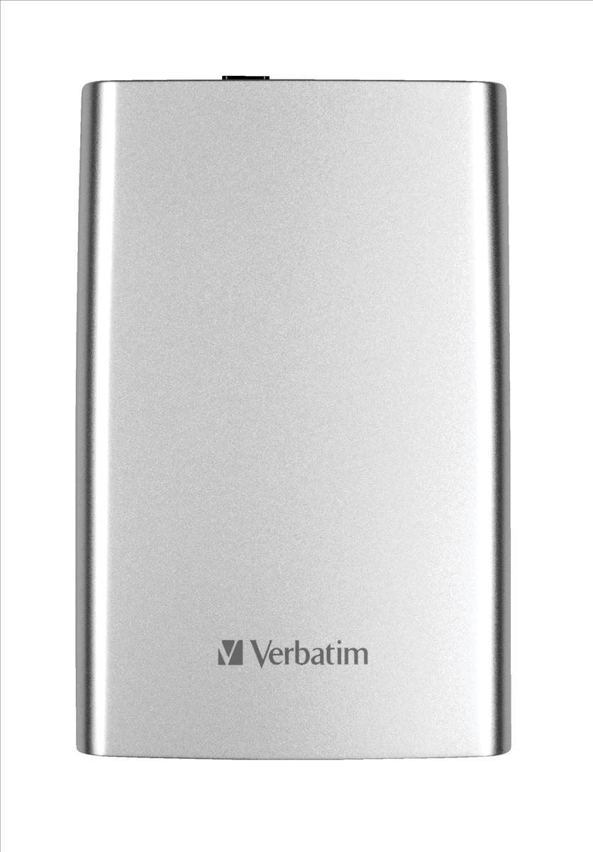 Verbatim Store n Go Portable Hard Drive For Mac and PC USB 3.0 1TB Silver Ref 53071