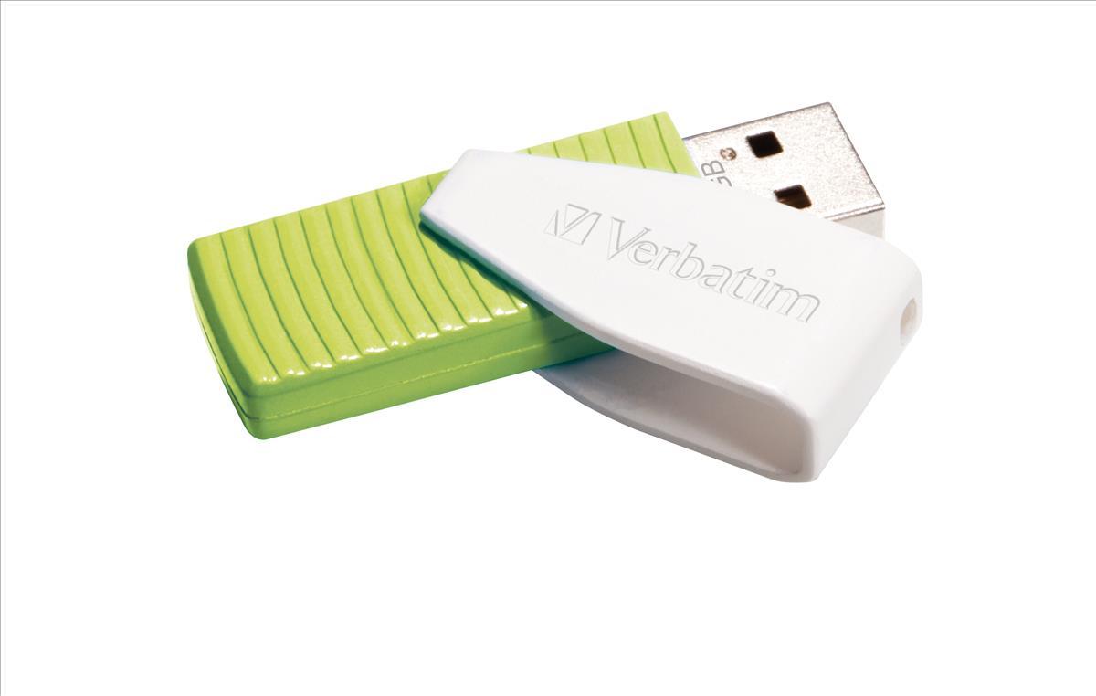 Verbatim Swivel Head Flash Drive USB 2.0 32GB Green Ref 49815