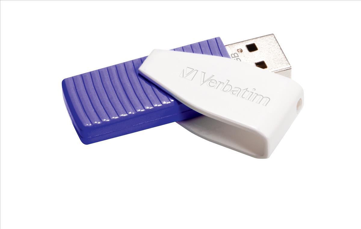 Verbatim Swivel Head Flash Drive USB 2.0 64GB Violet Ref 49816