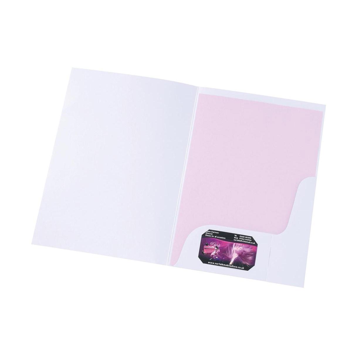 5 Star Pres Folder White Matt WB100427