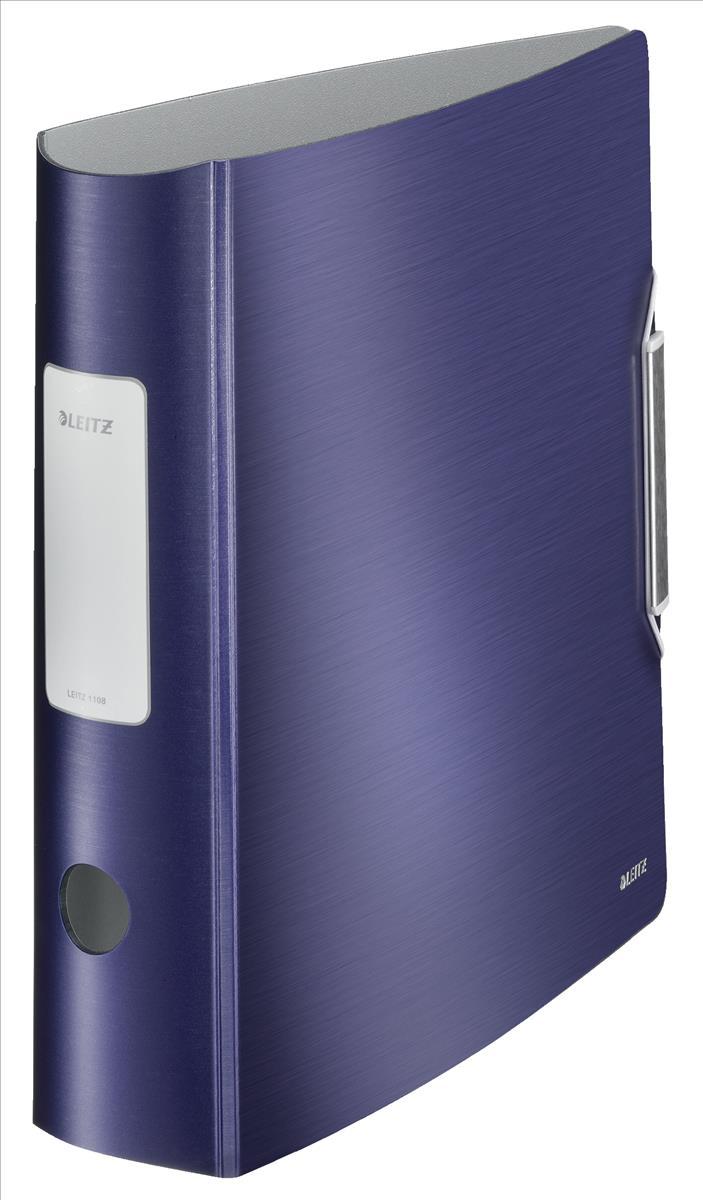 Leitz 180° Active Style Lever Arch File A4 Polypropylene 80mm Titan Blue