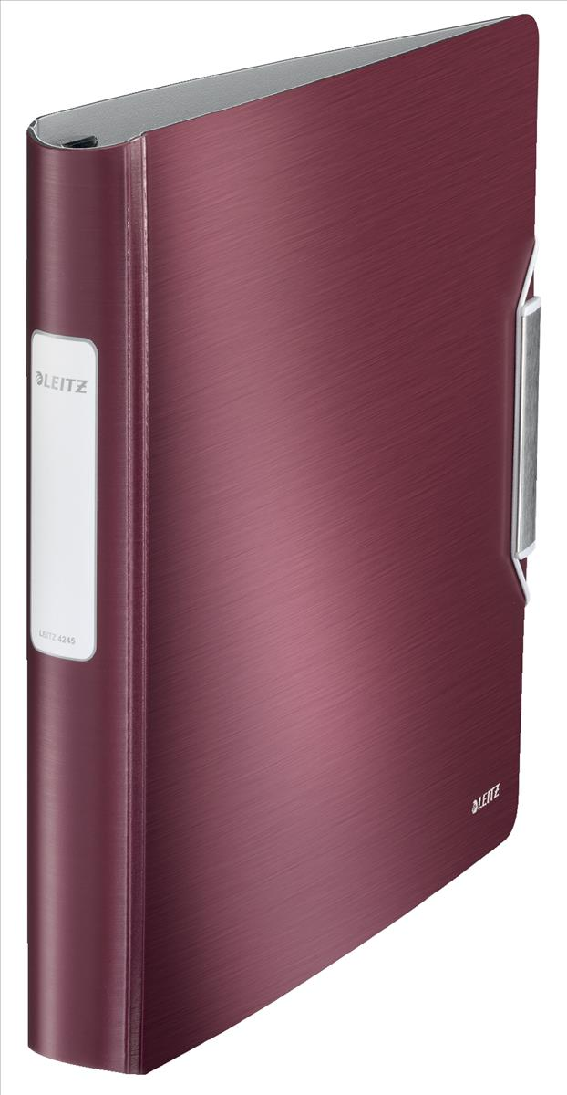 Leitz Active Style SoftClick Ring Binder A4 4 D-Ring 30mm Garnet Red