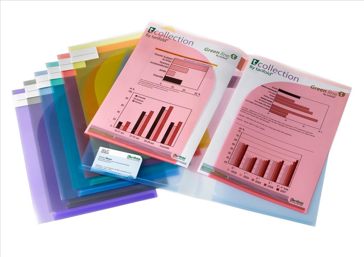 Tarifold A4 Presentation Folder Assorted Pack 12 TAE511009