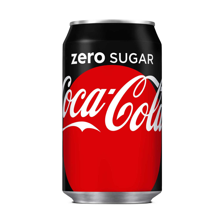 Coca Cola Coke Zero Soft Drink Can 330ml Ref N001018 [Pack 24]