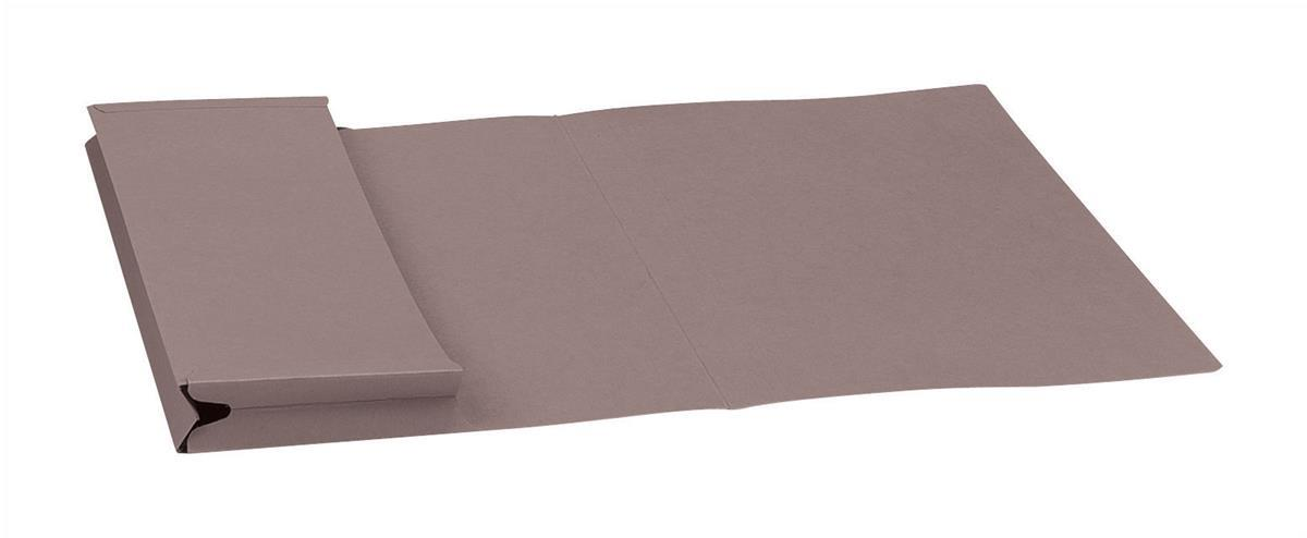 Guildhall Legal Document Wallet Full Flap 315gsm 356x254mm Grey Code PW3 Pack 50