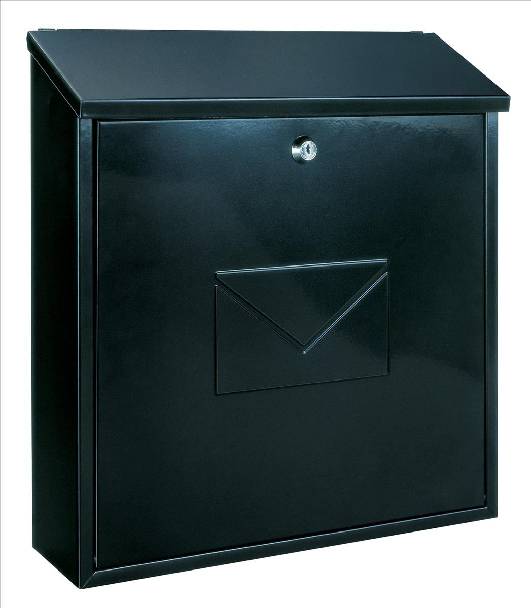 Image for Rottner Firenze Mailbox Steel Embossed 360x30mm Opening W365xD115xH400mm Black Ref T03426