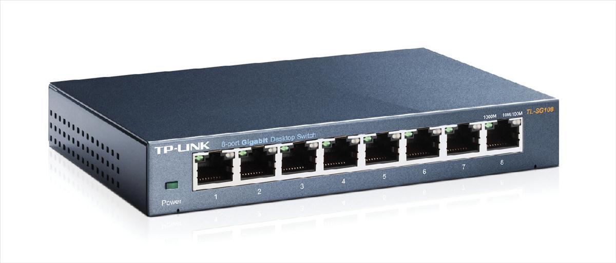 TP Link TL-SG108E 8-Port Desktop Network Management Easy Smart Switch
