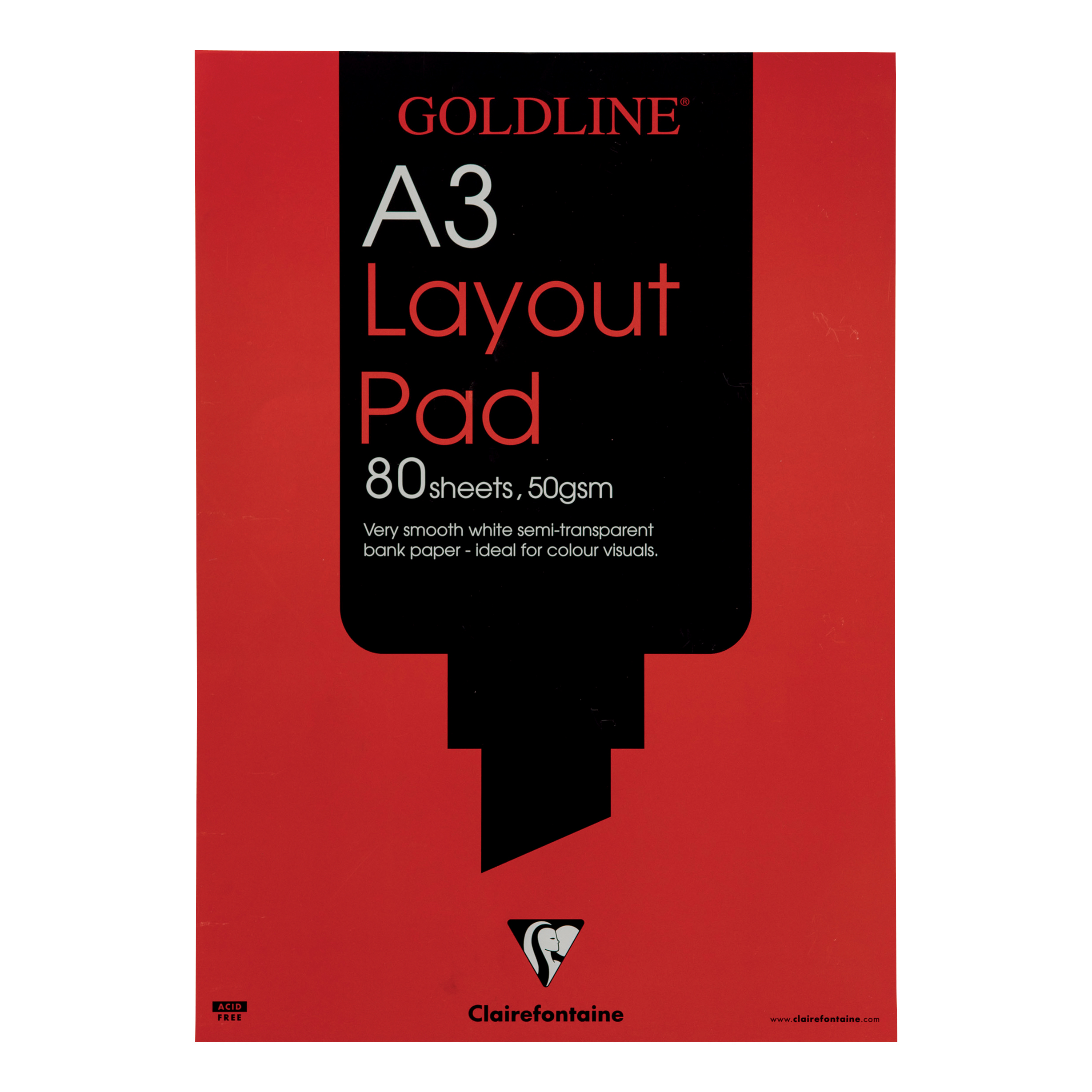 Goldline Layout Pad Bank Paper Acid-free 50gsm 80 Sheets A3 Ref GPL1A3Z [Pack 5]