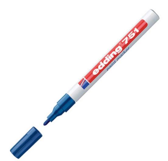 Edding 751 Paintmarker 1-2mm Bullet Blu