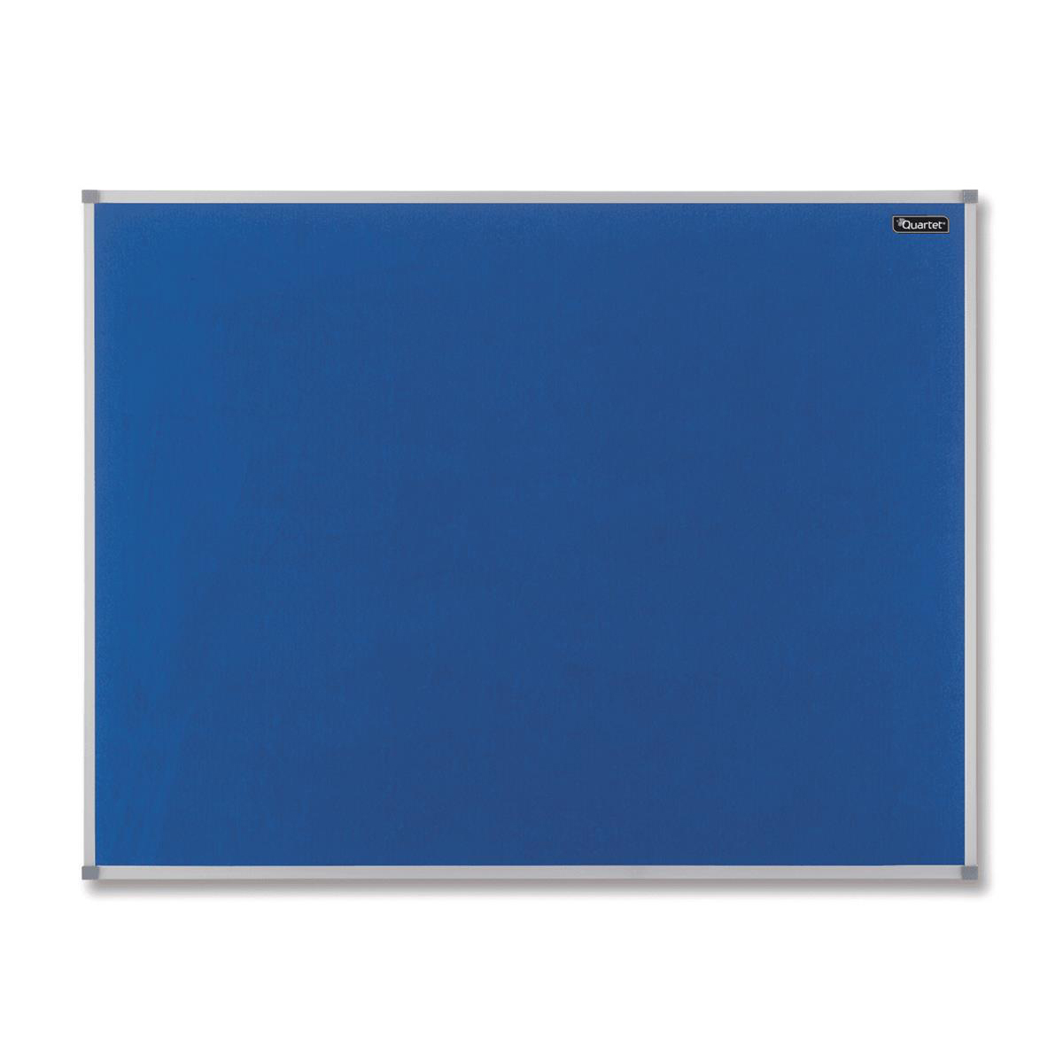 Quartet Felt Notice Board Aluminium Trim 600x450mm Blue Ref 1904069