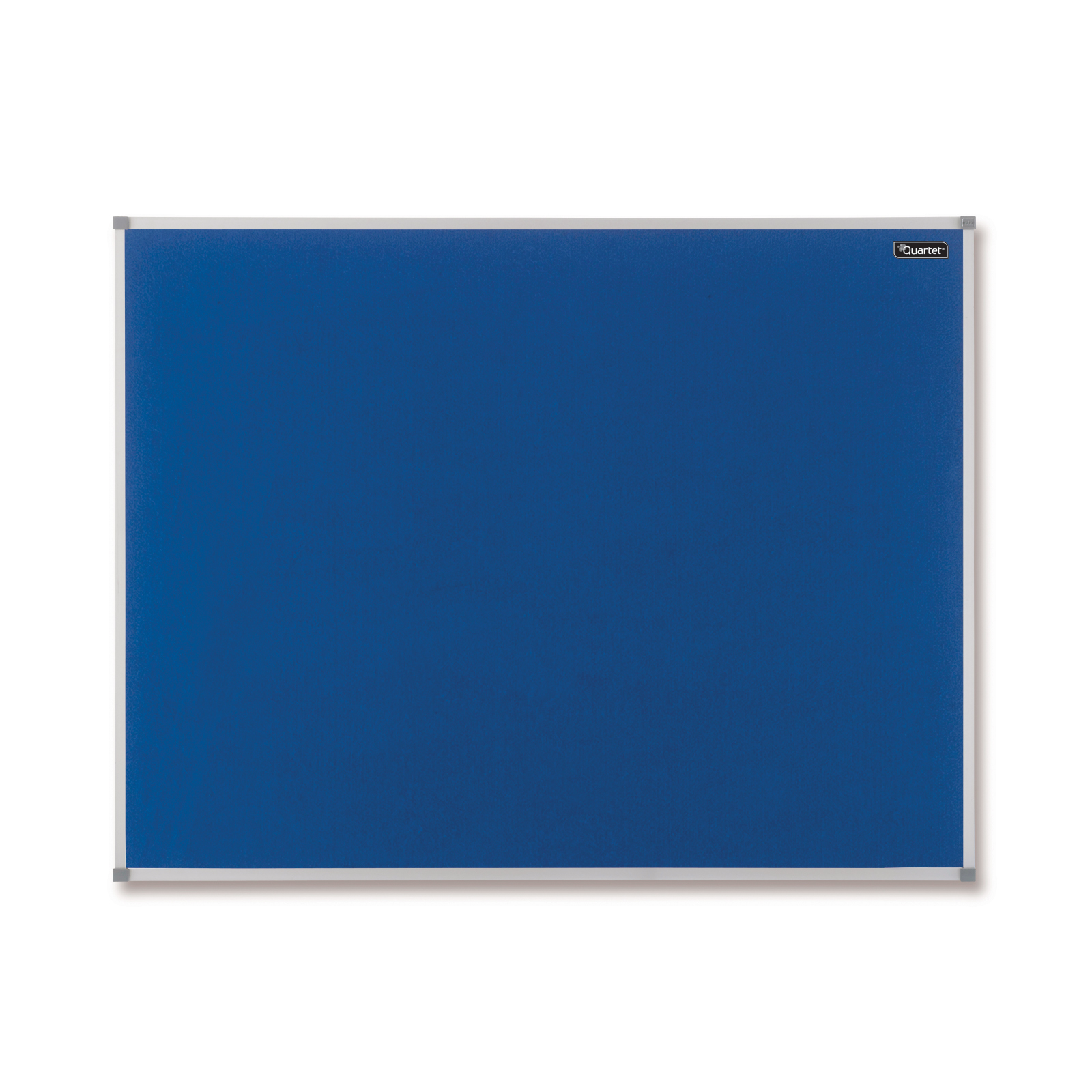 Quartet Felt Notice Board Aluminium Trim 1200x900mm Blue Ref 1904071
