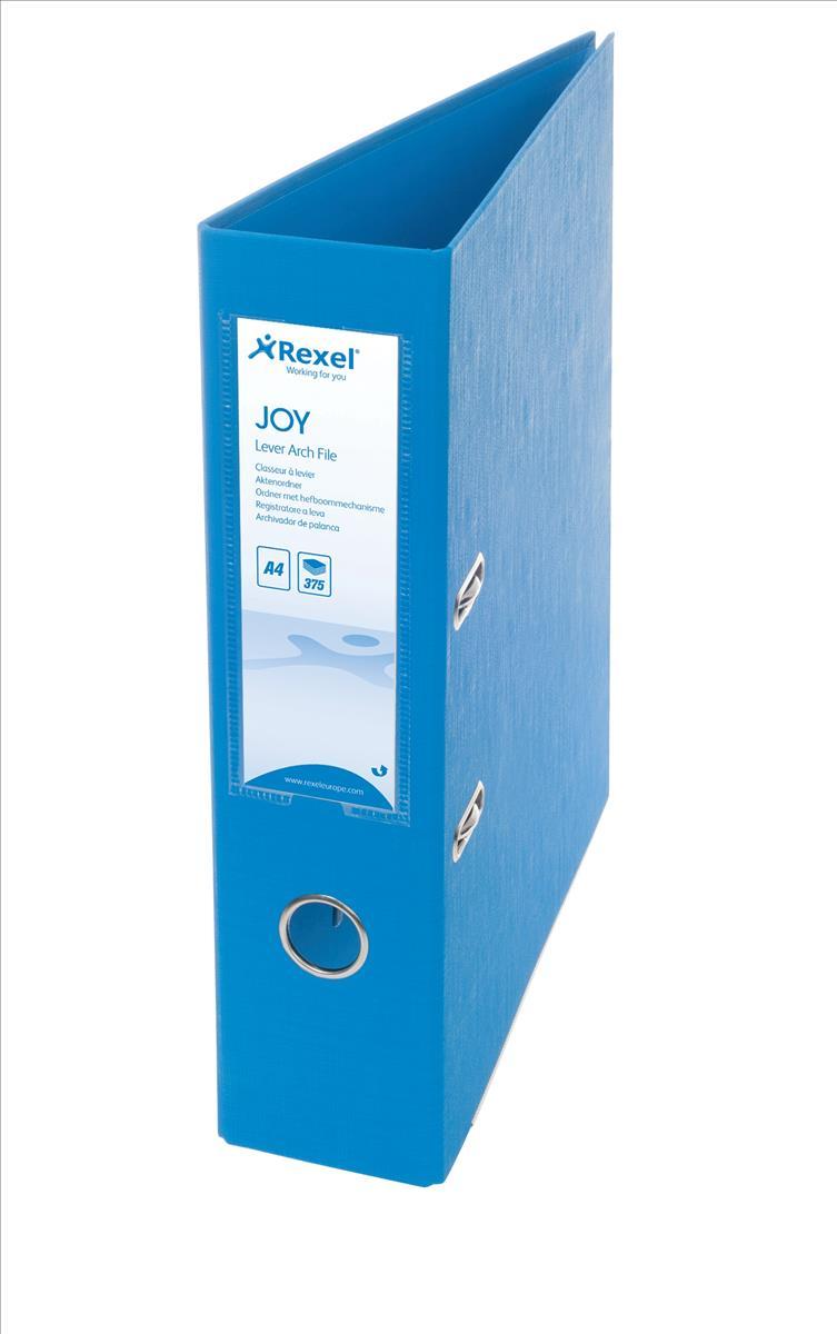 AMRexel JOY Lever Arch75mmA4 BlueOct3/15