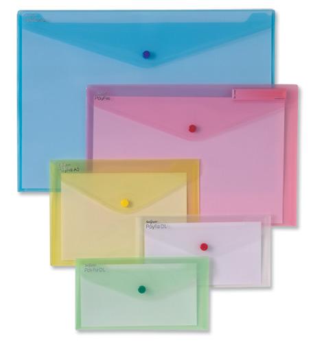 Snopake Polyfile Classic Wallet File Polypropylene DL Clear Code 10057