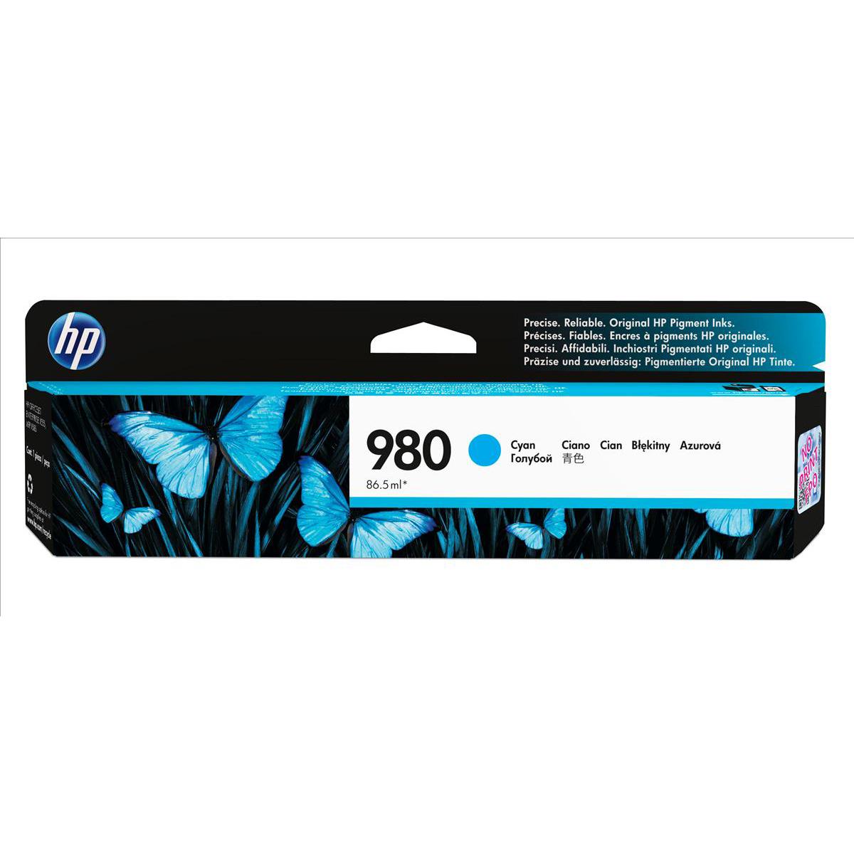 HP 980 Cyan Ink Cartridge D8J07A