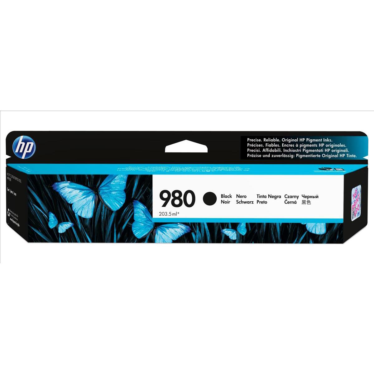 HP 980 Black Ink Cartridge D8J10A