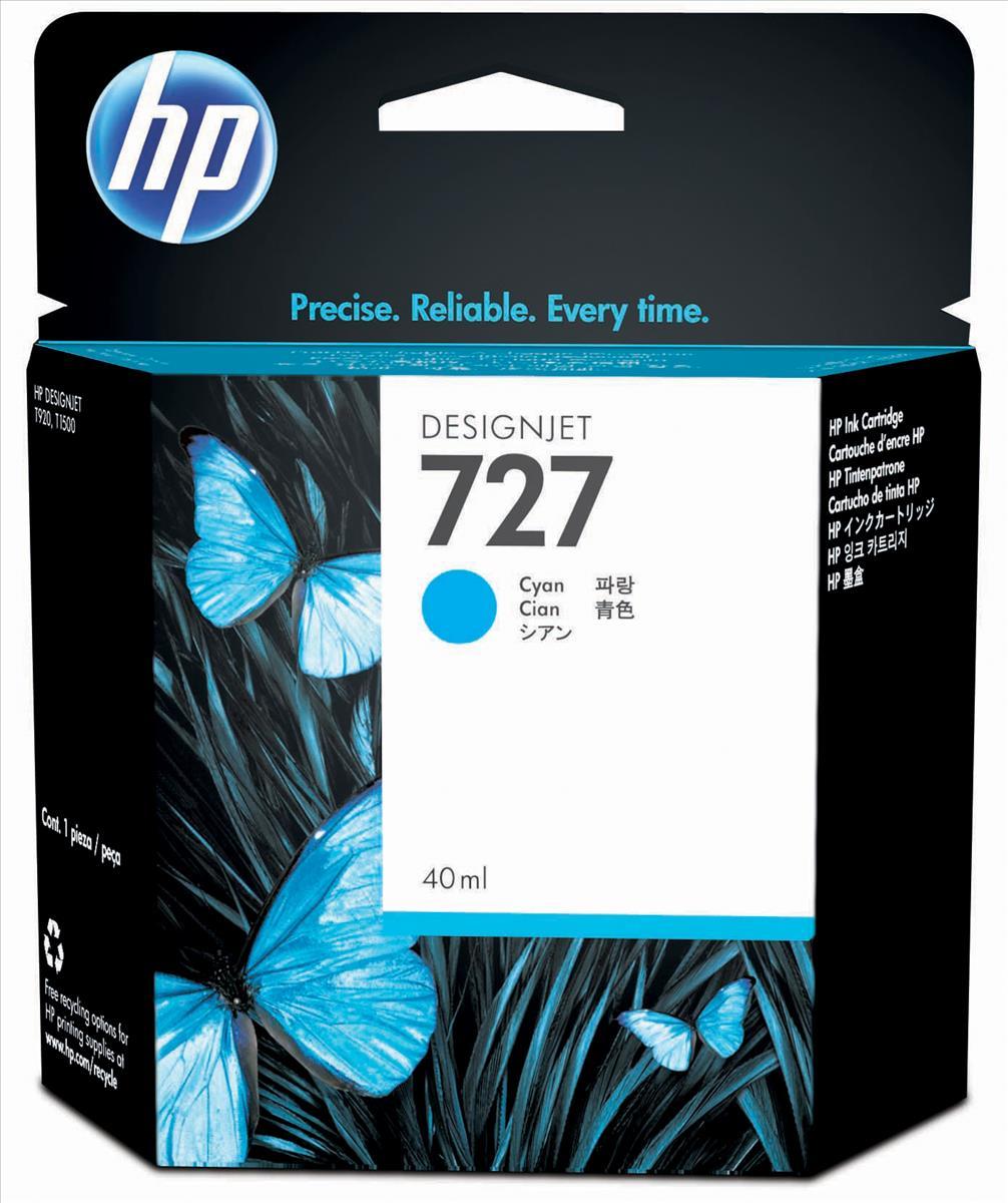 HP 727 40-Ml Cyan Ink Cartridge B3P13A